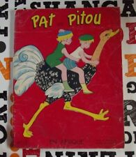 Old Album Pat and Pitou in Africa n'1 Aircraft Ostrich Crocodile Adventure 1950