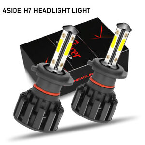 H7 LED Headlight Bulb Conversion Kit High Low Beam Lamp 6000K White 2 Bulbs New