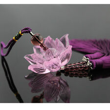 Crystal Lotus Car Hanging Decor Ornament Pendant Decoration Elegant Lucky Gift