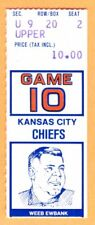 12/9/79 COLTS/CHIEFS FOOTBALL TICKET STUB