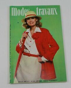 Modes & Travaux Vintage French Fashion Sewing Knitting Magazine May 1977