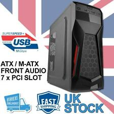 More details for gaming atx / m-atx tower computer pc case - black