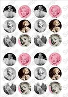 24 x Marilyn Monroe Fairy cake toppers on rice paper! NMMF