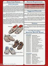 Missouri River Plains Style Indian Moccasin Infant Toddler Child Sewing Pattern