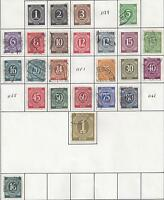 From Collection - 63 DIFFERENT STAMPS from GERMANY (1928-1948)