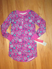 Girl Multicolor PEACE SIGNS FLOWERS PURPLE NIGHTGOWN SLEEPWEAR PJs NWT 6 6X