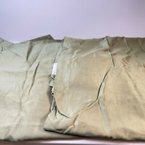 jcpenney curtain panel pair green 38x85 weighted bottom lined rayon blend