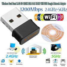 Wireless Dual Band 2.4+5G 1200Mbps 802.11AC NANO USB Wifi Dongle Network Adapter