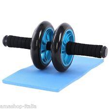 Songmics Exercise Wheel Roller Doppia ruota per muscoli addominali + Tappetino