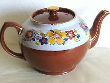 Vintage Sadler Tea Pot Straffordshire England Teapot Floral Gold Trim Free Sh