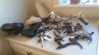LARGE JOB LOT BICYCLE SPARES / REPAIRS- SADDLES - HANDLEBARS ETC ETC