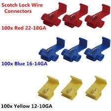 300x Scotch Lock Wire Connectors Quick Splice Terminals Crimp Electrical RISUNST