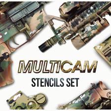 MULTICAM Adhesive Vinyl Stencils in Set-4 Camo Cerakote Duracoat Gunkote