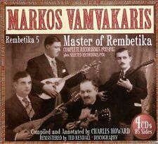 Rembetika 5: Master of Rembetika 1932-1937 [Box] by Márkos Vamvakáris (CD, Oct-2010, 4 Discs, JSP (UK))