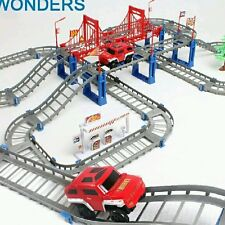 Electric Thomas rail car kids train track model slot toy baby racing car