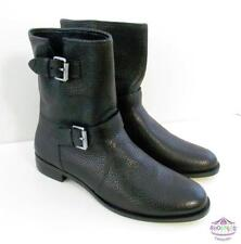 J Crew Biker Boots Buckle Size 9.5 style # e0849 Motocycle Black NEW