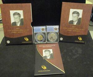 2015 John F. Kennedy Coin & Chronicles Set - ANACS RP70 & Silver Medal