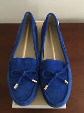 MICHAEL Michael Kors Daisy Moc Flats US 10 ELECTRIC BLUE