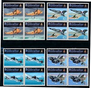 [TLC13] Giraltar 2012 - Michel 1473/76**, blocs de 4 aviation - superbe
