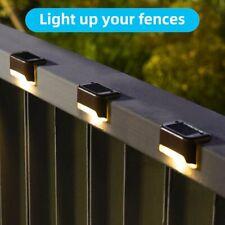 4 PACK LED Solar Powered Light Outdoor Garden Security Wall Fence Gutter Lights