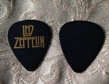 Led Zeppelin Guitar Pick Black With Gold Lettering
