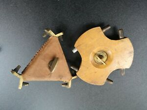 Two vintage wooden Tripod head connectors rare  Base