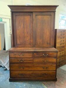 Antique Pitch Pine Butlers Cupboard Dresser