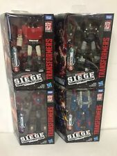 4X LOT Transformers Siege Deluxe Wave 1 SET Sideswipe Cog Skytread Hound IN HAND