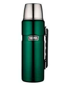 Thermos King Stainless Steel Flask Vacuum Insulated 1.2L Racing Green Travel