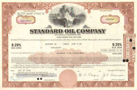 Standard Oil Company > 1970's stock bond certificate share