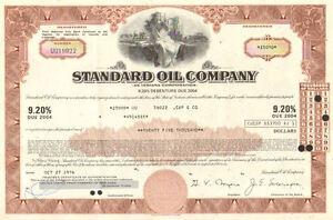 Standard Oil Company > 1970's $25,000 bond certificate