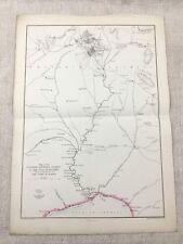 Antique Map of China Peking Tianjin Beijing Hand Coloured 19th Century Original