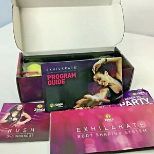 Zumba Fitness Exhilarate Body Shaping System DVD Set Toning Sticks Dance WorkOut