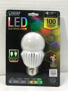 Feit Electric BPA19HEX1600-827-LED 100W EQUIVALENT BULB Dimmable New Sealed