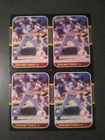 Lot Of 4 Don Mattingly 1987 Donruss #52 New York Yankees Fast Free Shipping