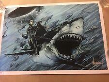 Orca / Jaws art movie poster print giclee JP Valderrama hero complex gallery S/N