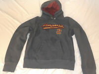 NEW VINTAGE Abercrombie And Fitch DISTRESSED WARM HEAVY Sweater Hoodie Men's