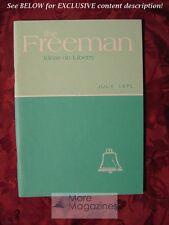 The FREEMAN July 1971 Henry Hazlitt Haven Gow V. Orval Watts W. H. Graham