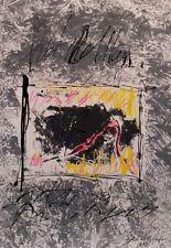 Christian Claerebout : Technique mixte acrylique signée datée 1986