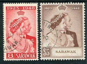 SARAWAK 1948 SILVER WEDDING SG165/6 SUPERB USED