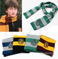 Harry Poter Gryffindor Hufflepuff Slytherin Knit Scarf Cosplay Costume Wholesale