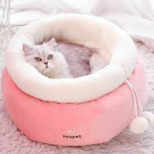 New Warm Round Pet Dog Cat Sofa Bed House Sleeping Bag Basket Puppy Kitty Pink