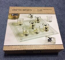 Shot Glass Drinking Game (10 glasses, 1 glass tray)