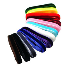 12x Colorful 1 Yard Luxury Velvet Ribbons for Xmas DIY Hair Accessories 9mm
