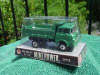 RARE SHINSEI OF JAPAN 1/60 1960's DIECAST MINI POWER GMC COE DUMP TRUCK NEW MIP!
