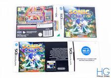 Sonic Colores-Nintendo DS/NDS JUEGO Y Estuche PAL