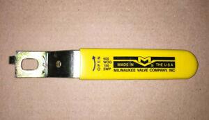 "New Old Stock 7"" Milwaukee Ball Valve Handle Smooth Grip Heavy Yellow Steampunk"