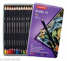 DERWENT STUDIO 12 PENCILS TIN SET - ARTISTS DRAWING & PAINTING