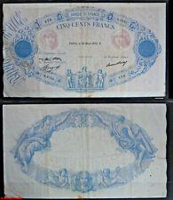 Billet 500 francs Bleu et Rose, du 30 mars 1933, en TB-