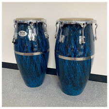 More details for natal classic series splatter finish 11&12 inch congas black with blue (new)